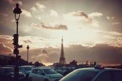 法国背景城市街道 免版税库存照片