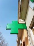 法国药房标志 免版税库存照片