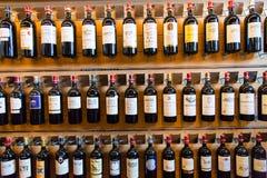 法国葡萄酒瓶 库存照片