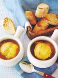 法国葱汤 免版税库存照片