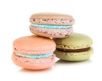 法国蛋白杏仁饼干三 免版税库存照片