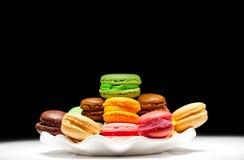 法国蛋白杏仁饼干 免版税库存照片