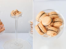 法国蛋白杏仁饼干 免版税库存图片
