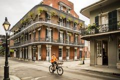 法国街区的历史的房子新奥尔良 免版税库存图片