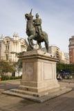 法国西班牙雕象 库存图片