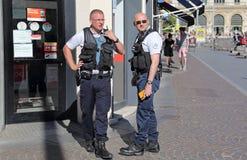 法国警察在里尔,法国 免版税库存图片