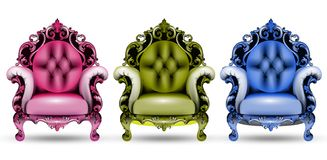 法国豪华富有的复杂结构 维多利亚女王时代的皇家样式装饰 库存例证