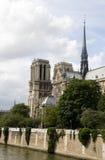 法国贵妇人notre巴黎河围网 免版税库存图片