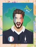 法国足球迷呼喊 库存例证