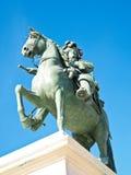 法国路易斯国王雕象凡尔赛xiv 库存照片