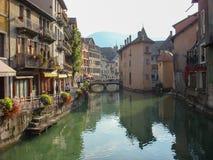 法国运河 库存照片