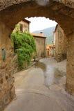 法国运输路线村庄 图库摄影