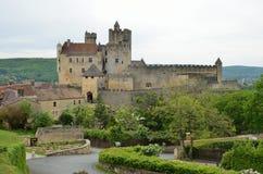 法国部门多尔多涅省的著名城堡 免版税库存照片