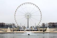 法国重创的la巴黎roue 库存照片