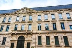 法国银行大厦门面在巴黎 库存照片