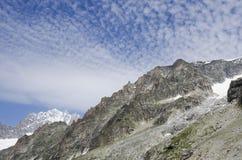 法国阿尔卑斯峰顶 免版税库存照片