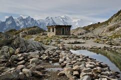 法国阿尔卑斯- Mont Blanc 免版税库存照片