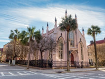 法国雨格诺派教会在查尔斯顿, SC 免版税图库摄影
