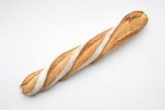 法国面包在白色背景中 免版税库存图片