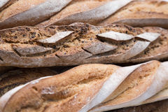法国面包纹理 库存照片