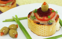 法国面包薄饼 免版税库存照片