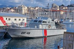 法国风俗高速小船 库存图片
