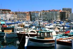 法国马赛端口 免版税库存照片