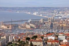 法国马赛视图 免版税库存图片