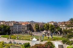 法国马赛 池塘Longchamp城市的宫殿和看法 免版税库存图片