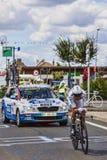 法国骑自行车者安东尼乳酪面粉糊 库存照片