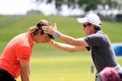 法国高尔夫球的罗迈因Wattel打开2013年 图库摄影