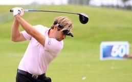 法国高尔夫球的胜者Dubuisson打开2013年 免版税库存照片