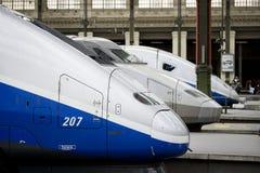 法国高速tgv培训 免版税库存图片