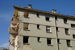 法国,一个老大厦的爆破在Les mureaux的 库存图片
