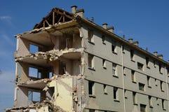 法国,一个老大厦的爆破在Les mureaux的 免版税库存照片