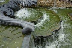 法国,三个喷泉树丛在凡尔赛宫公园 图库摄影