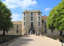 法国,伊夫林省:在维利埃斯leMahieu的城堡 免版税库存图片