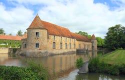 法国,伊夫林省:城堡- Château de维利埃斯leMahieu 免版税库存照片