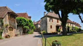法国,卢布雷萨克美丽如画的村庄  免版税库存图片
