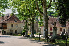 法国,卢布雷萨克美丽如画的村庄  库存图片
