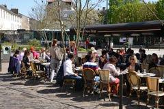 法国,圣日耳曼en Laye美丽如画的城市 库存图片