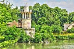 法国,在凡尔赛Pa parc的玛丽・安托瓦内特庄园 免版税库存图片