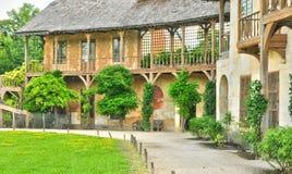 法国,在凡尔赛Pa parc的玛丽・安托瓦内特庄园 库存图片