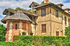 法国,在凡尔赛Pa parc的玛丽・安托瓦内特庄园 库存照片