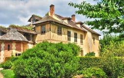 法国,在凡尔赛Pa parc的玛丽・安托瓦内特庄园 免版税图库摄影
