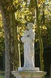 法国,大理石象在凡尔赛宫公园 免版税图库摄影