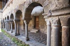 法国,奥韦涅,拉沃迪厄村庄,修道院 库存照片