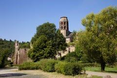 法国,奥韦涅,拉沃迪厄村庄 库存照片