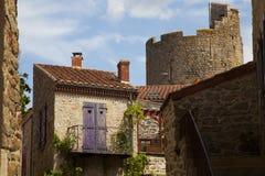 法国,奥韦涅, Montpeyroux村庄 库存图片