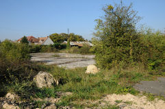 法国,工业荒原在莱米罗 免版税库存照片